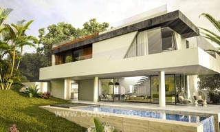New, 'design your own', contemporary luxury villas for sale in an innovative project, golf area with golf and sea views in Estepona - Marbella 3625