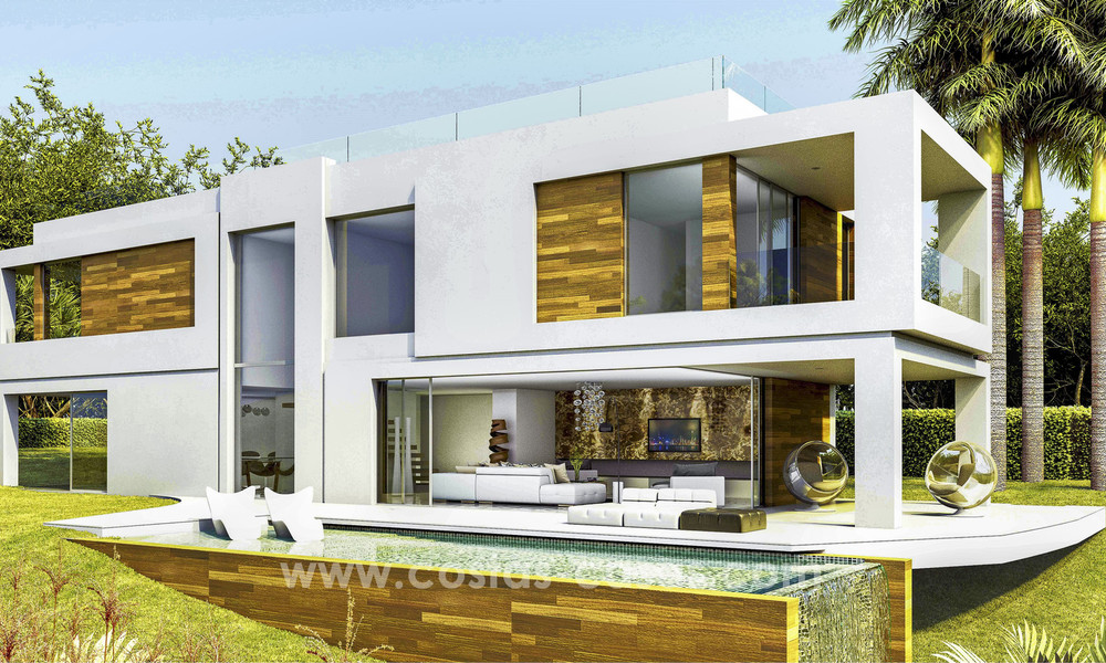New, 'design your own', contemporary luxury villas for sale in an innovative project, golf area with golf and sea views in Estepona - Marbella 3629
