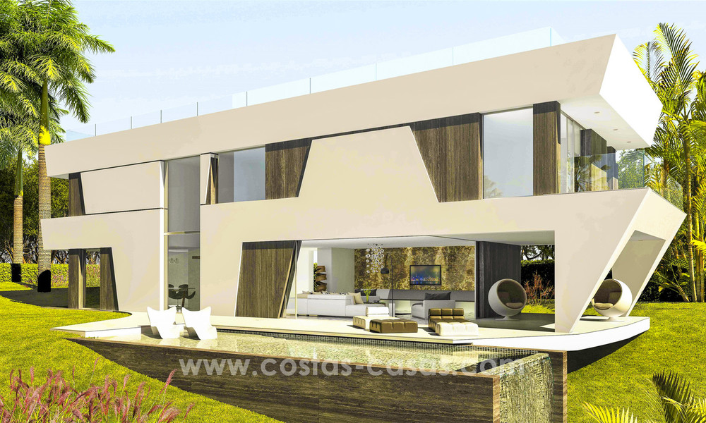 New, 'design your own', contemporary luxury villas for sale in an innovative project, golf area with golf and sea views in Estepona - Marbella 3631
