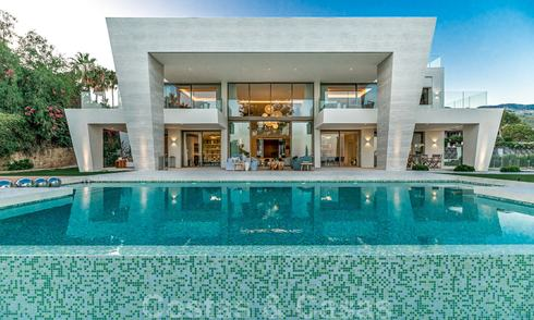 Extraordinary contemporary luxury villa with breath taking sea views for sale in Sierra Blanca, Golden Mile, Marbella 27026