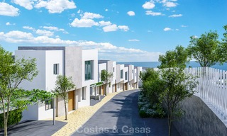 New modern and spacious first line golf townhouses for sale with breath taking views over Mediterranean and golf, Marbella East 3708