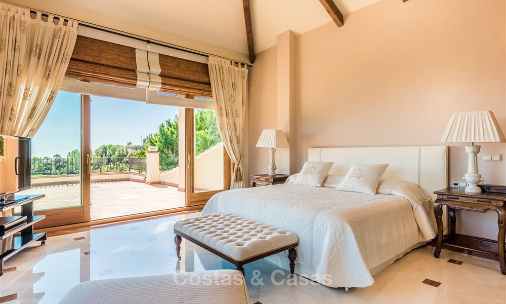 Charming and spacious Andalusian style villa for sale in El Madroñal, Benahavis - Marbella 3755