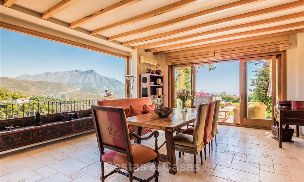 Charming and spacious Andalusian style villa for sale in El Madroñal, Benahavis - Marbella 3769