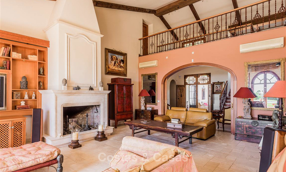 Charming and spacious Andalusian style villa for sale in El Madroñal, Benahavis - Marbella 3772
