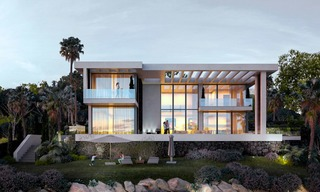 Two modern and contemporary new luxury villas with sea views for sale in Benahavis – Marbella 3851