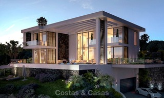 Two modern and contemporary new luxury villas with sea views for sale in Benahavis – Marbella 3852