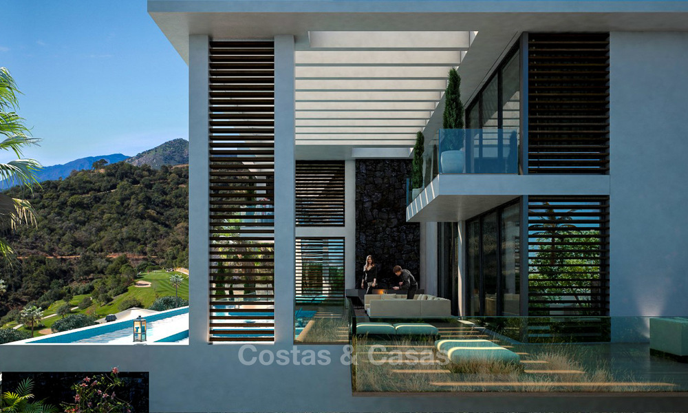 Two modern and contemporary new luxury villas with sea views for sale in Benahavis – Marbella 3853