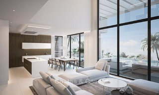Two modern and contemporary new luxury villas with sea views for sale in Benahavis – Marbella 3855