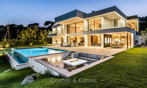 New built modern contemporary luxury villa for sale in El Madroñal, Benahavis - Marbella 3879