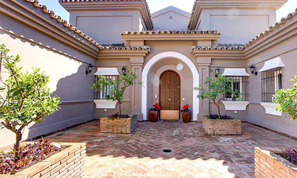 Spectacular, modern Andalusian style luxury villa for sale, New Golden Mile, Benahavis Marbella 3955