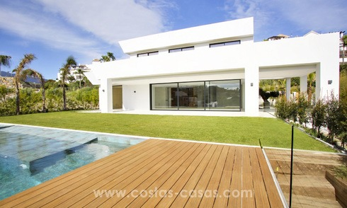 Brand new modern contemporary luxury villa with sea views for sale, Benahavis, Marbella 3963
