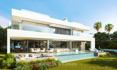 Luxury, modern contemporary villa for sale with spectacular sea views, Estepona, Costa del Sol 3998