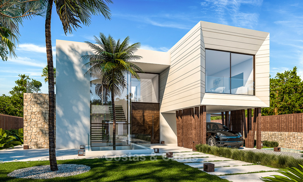 Majestic and luxurious contemporary villa for sale in an exclusive beachside urbanisation, Guadalmina Baja, Marbella. 4115