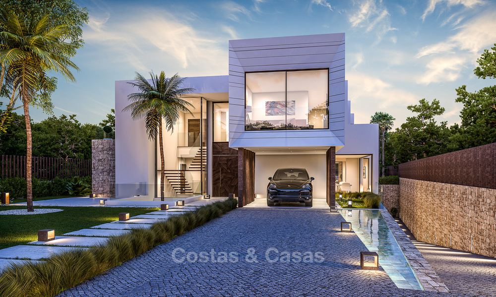 Majestic and luxurious contemporary villa for sale in an exclusive beachside urbanisation, Guadalmina Baja, Marbella. 4116