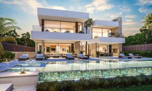 Majestic and luxurious contemporary villa for sale in an exclusive beachside urbanisation, Guadalmina Baja, Marbella. 4117