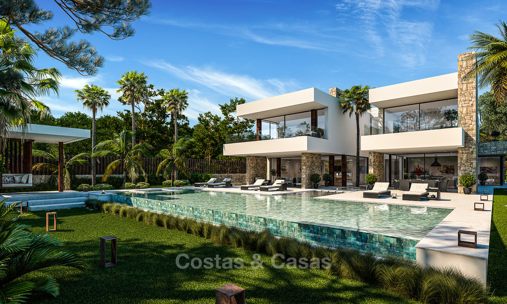 Majestic and luxurious contemporary villa for sale in an exclusive beachside urbanisation, Guadalmina Baja, Marbella. 4118