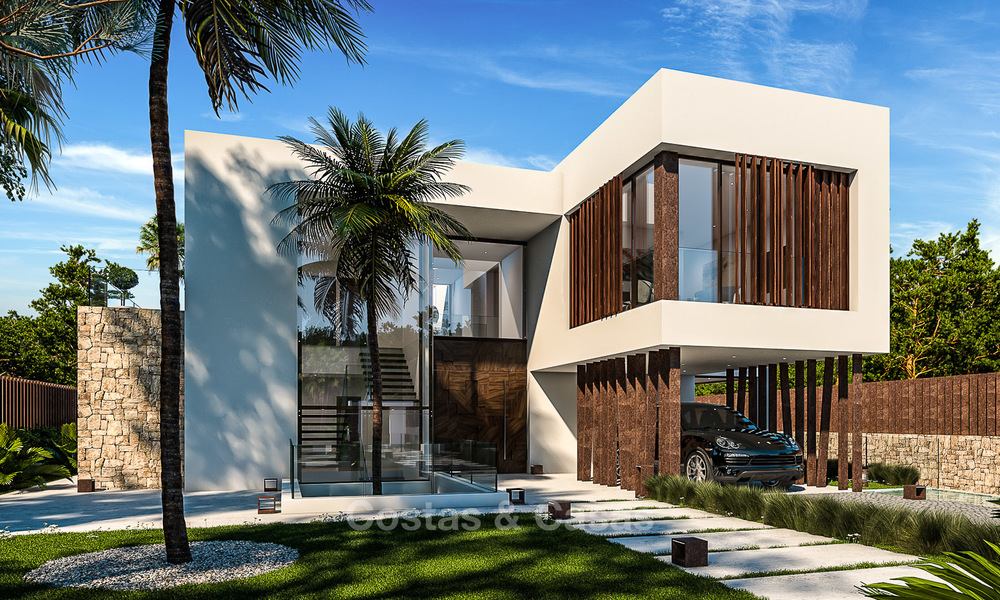 Majestic and luxurious contemporary villa for sale in an exclusive beachside urbanisation, Guadalmina Baja, Marbella. 4119
