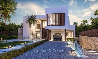 Majestic and luxurious contemporary villa for sale in an exclusive beachside urbanisation, Guadalmina Baja, Marbella. 4120
