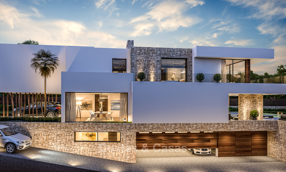 Majestic and luxurious contemporary villa for sale in an exclusive beachside urbanisation, Guadalmina Baja, Marbella. 4122