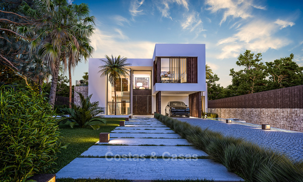 Majestic and luxurious contemporary villa for sale in an exclusive beachside urbanisation, Guadalmina Baja, Marbella. 4123