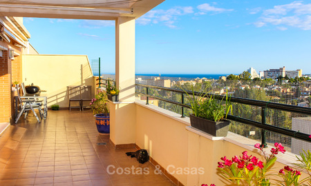 Spacious and convenient penthouse apartment for sale in a very quiet residential district of Torremolinos – Benalmadena, Costa del Sol 4356