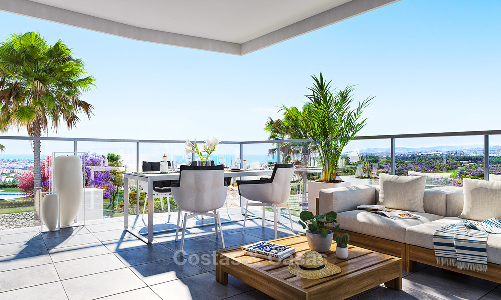 New built modern apartments for sale in a new contemporary development - Mijas - Costa del Sol 4213