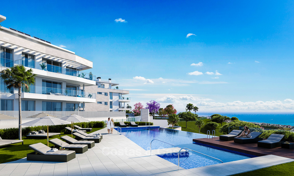 New built modern apartments for sale in a new contemporary development - Mijas - Costa del Sol 4215