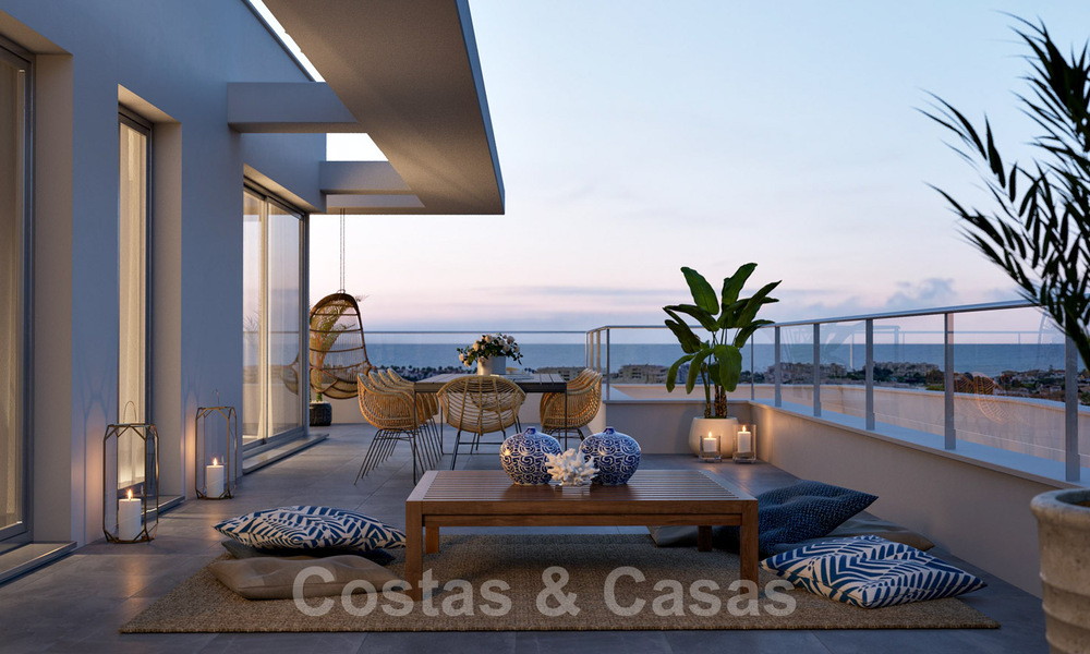 New built modern apartments for sale in a new contemporary development - Mijas - Costa del Sol 28929