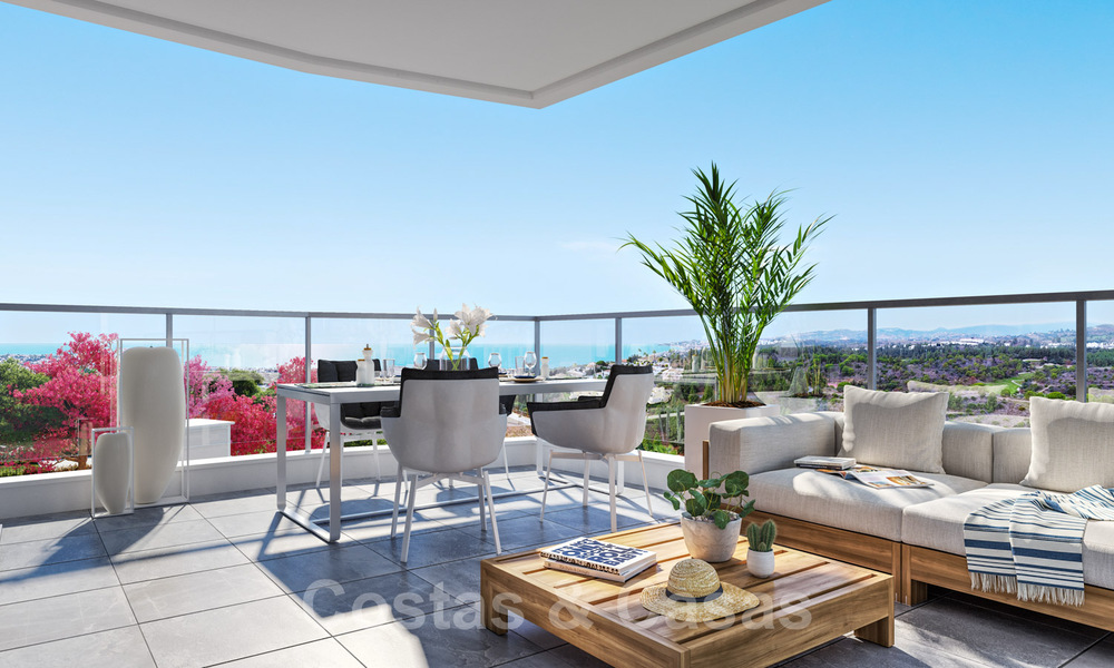 New built modern apartments for sale in a new contemporary development - Mijas - Costa del Sol 28930