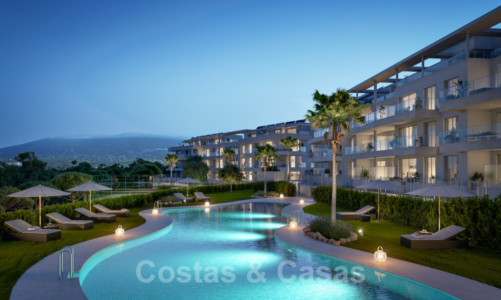 New built modern apartments for sale in a new contemporary development - Mijas - Costa del Sol 28933