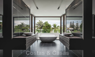 Brand new, beach side ultra-modern designer style villa for sale, Estepona East - Marbella. Ready to move in. 30716