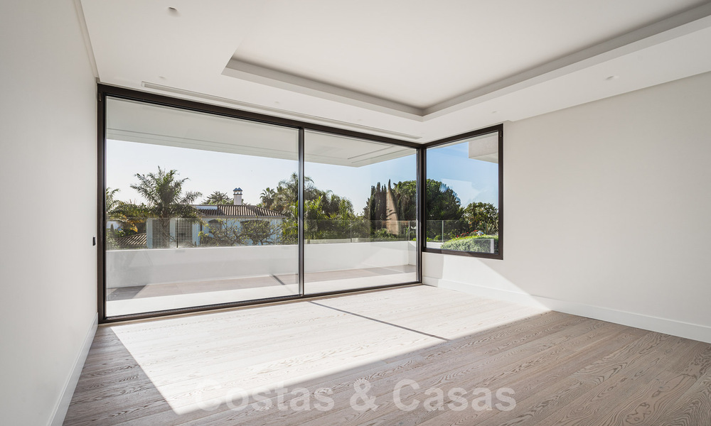 Brand new, beach side ultra-modern designer style villa for sale, Estepona East - Marbella. Ready to move in. 30726