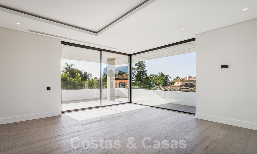 Brand new, beach side ultra-modern designer style villa for sale, Estepona East - Marbella. Ready to move in. 30729