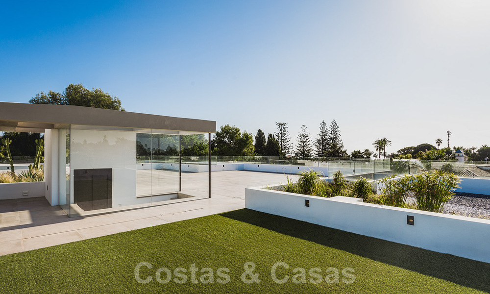 Brand new, beach side ultra-modern designer style villa for sale, Estepona East - Marbella. Ready to move in. 30734