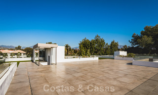 Brand new, beach side ultra-modern designer style villa for sale, Estepona East - Marbella. Ready to move in. 30736