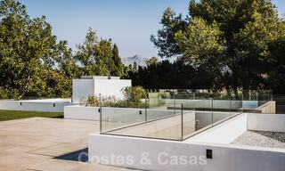 Brand new, beach side ultra-modern designer style villa for sale, Estepona East - Marbella. Ready to move in. 30738