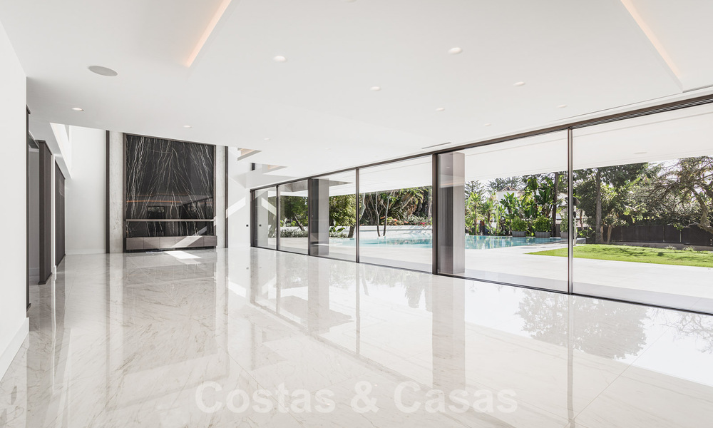 Brand new, beach side ultra-modern designer style villa for sale, Estepona East - Marbella. Ready to move in. 30746