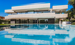 Brand new, beach side ultra-modern designer style villa for sale, Estepona East - Marbella. Ready to move in. 30752