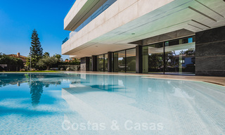 Brand new, beach side ultra-modern designer style villa for sale, Estepona East - Marbella. Ready to move in. 30753