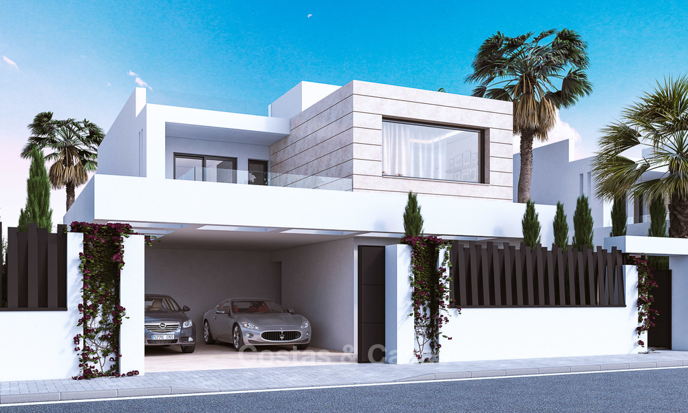 7 new modern villas for sale in a top end, exclusive urbanisation, on the Golden Mile, Marbella 4848