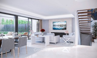 7 new modern villas for sale in a top end, exclusive urbanisation, on the Golden Mile, Marbella 4851