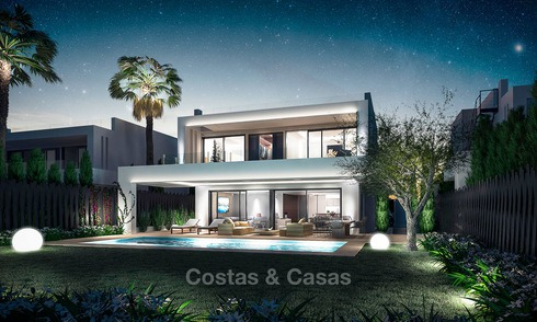 7 new modern villas for sale in a top end, exclusive urbanisation, on the Golden Mile, Marbella 4852