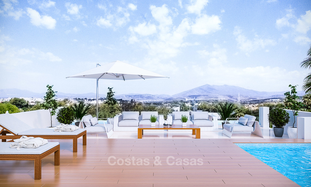 7 new modern villas for sale in a top end, exclusive urbanisation, on the Golden Mile, Marbella 4854