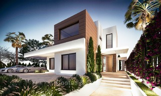 7 new modern villas for sale in a top end, exclusive urbanisation, on the Golden Mile, Marbella 4855