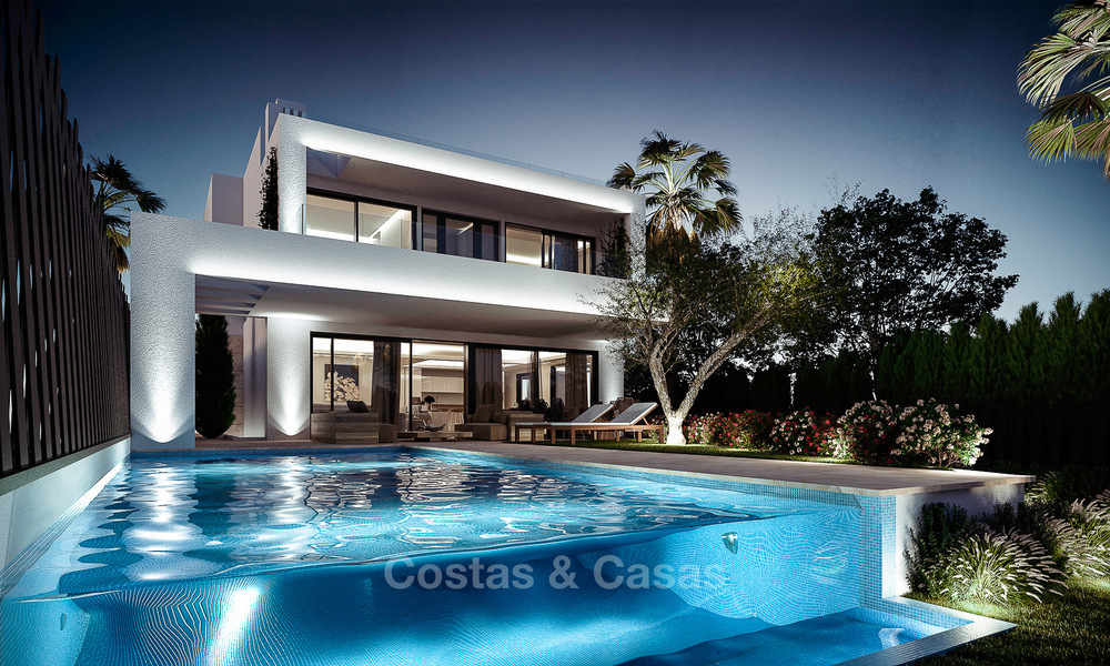 7 new modern villas for sale in a top end, exclusive urbanisation, on the Golden Mile, Marbella 4856
