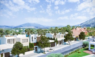 7 new modern villas for sale in a top end, exclusive urbanisation, on the Golden Mile, Marbella 4858