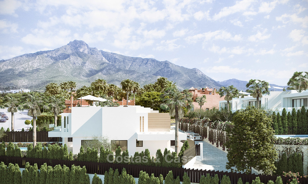7 new modern villas for sale in a top end, exclusive urbanisation, on the Golden Mile, Marbella 4859