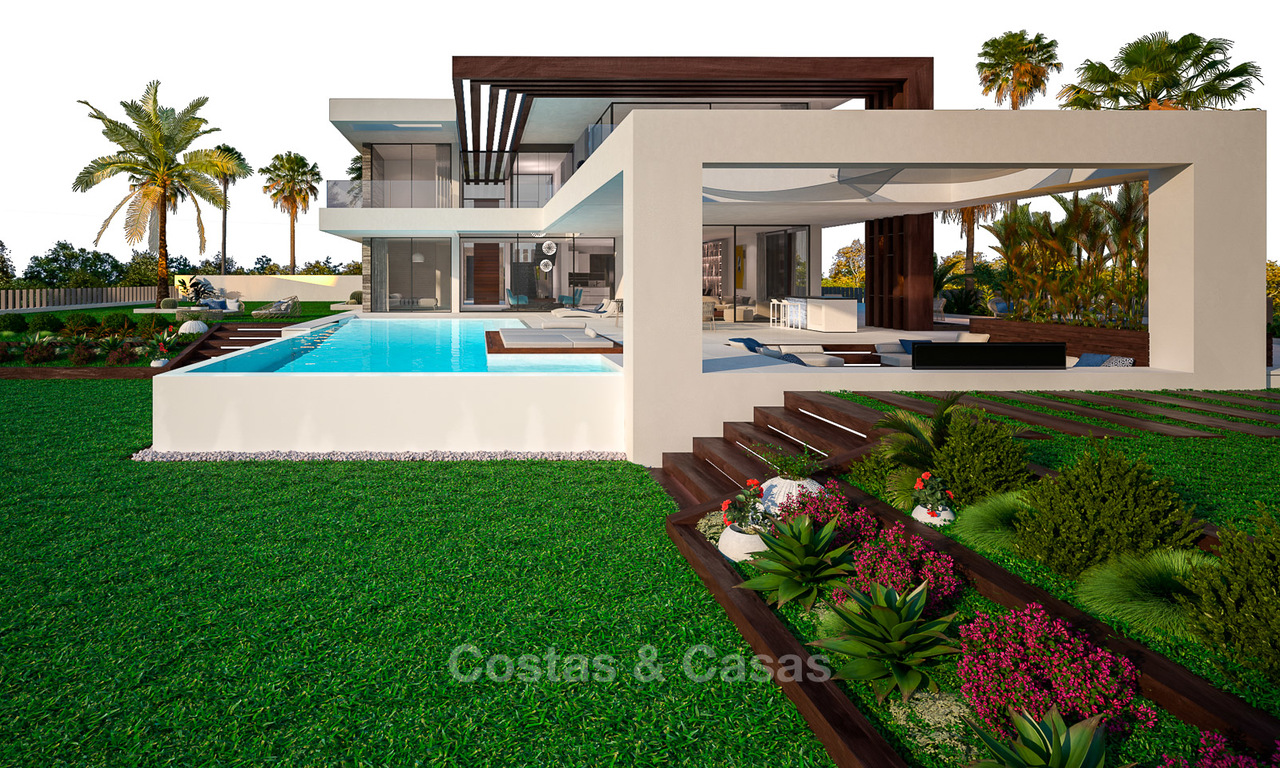Stunning, spacious, modern luxury villas with wonderful sea views for sale in a new development between Estepona and Marbella 4330