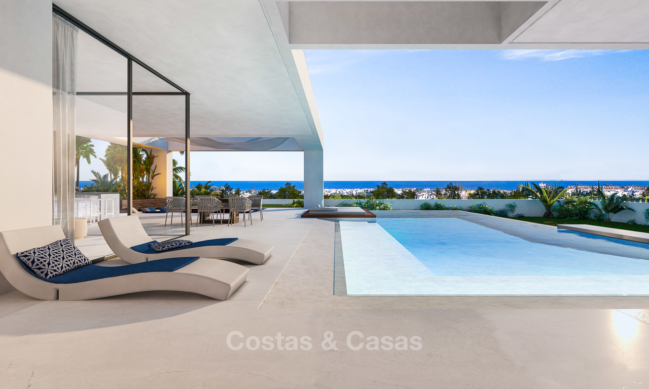 Stunning, spacious, modern luxury villas with wonderful sea views for sale in a new development between Estepona and Marbella 4332