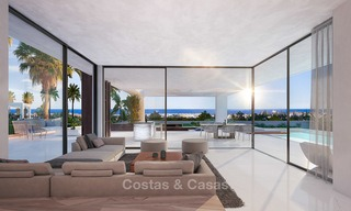 Special offer for the last villa! Key ready! Stunning, spacious, modern luxury villas with sea views for sale in a new complex between Estepona and Marbella 4334
